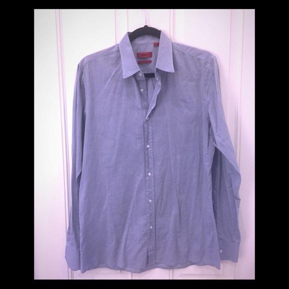 ca4dd5dd8ca Hugo Boss Shirts | Mens Slim Fit Grey Dress Shirt | Poshmark
